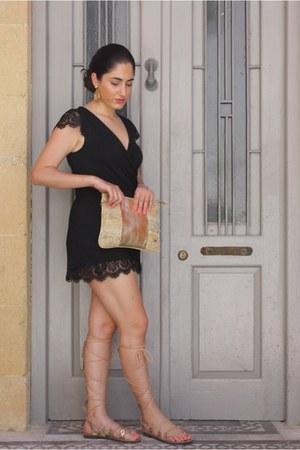 gold textiles Simoni Textile Designs bag - black Topshop bodysuit