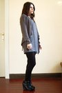 Gray-cos-dress-black-aldo-shoes-black-primark-t-shirt