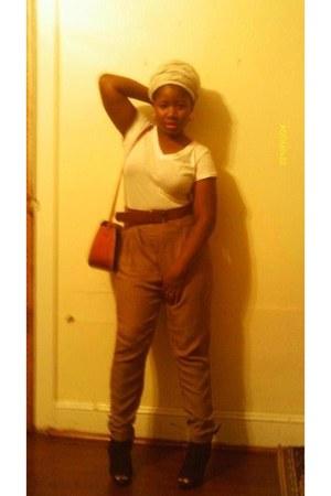 high waisted pants - black heels