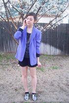 lavender blazer moms - f21 shoes - romper charolette russe