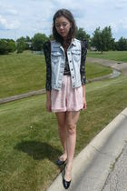 lulus jacket - f21 vest - thrifted shorts