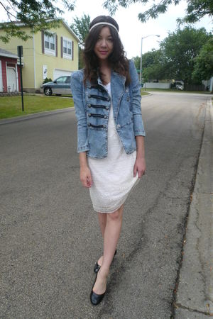 upscalelocal shop jacket - handed down from aunt dress - headband claires - TJMa