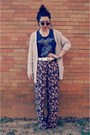 Thrifted-sunglasses-forever-21-top-forever-21-pants