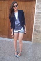 moms blazer - alloy t-shirt - urbanoutfitters shoes