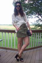 upscale top - H&M skirt - tj maxx carlos santana shoes