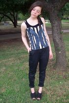 made by me top - f21 pants - UrbanOG shoes