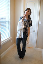 hand me down sweater - f21 top - TJMaxx jeans - UrbanOG shoes