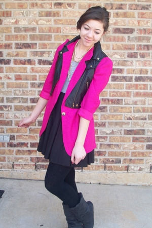 thrifted blazer - f21 necklace - f21 vest