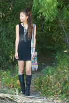 UrbanOG boots - TJMaxx dress - Inca bag