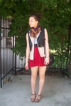 f21 vest - f21 scarf - rackroomshoes shoes