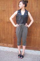 f21 vest - f21 top - H&M pants - TJMaxx shoes