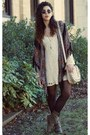 Urbanog-boots-urban-outfitters-dress-billabong-cardigan