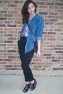 Urban-original-shoes-h-m-shirt-denim-shirt-thrifted-purse-f21-pants