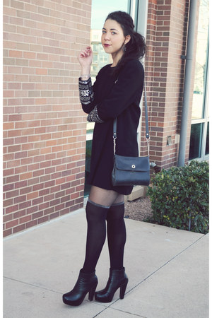 vintage dress - Missguided tights