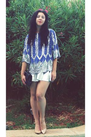 LoveCharlieJ top - Forever21 skirt - Carson Pierre Scott heels