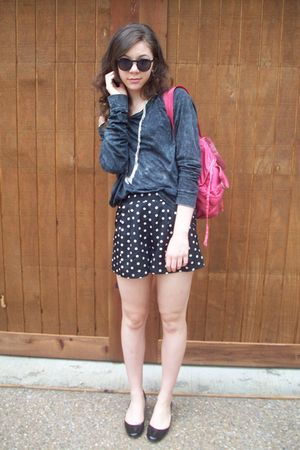 f21 shirt - f21 shorts - backpack Marshalls