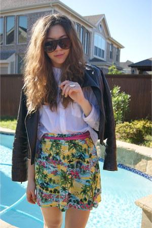 Forever 21 skirt - Forever 21 jacket - Forever 21 sunglasses - Forever 21 top