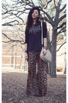 Marshalls bag - thrifted t-shirt - Forever21 pants