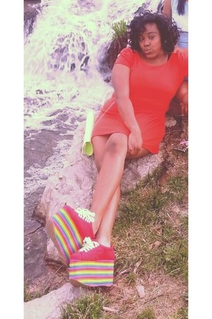 red Jeffrey Campbell sneakers