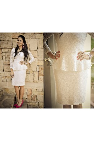 white soto dress - hot pink Mr Price heels