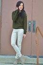 Off-white-cheetah-print-fire-los-angeles-pants-army-green-forever21-sweater