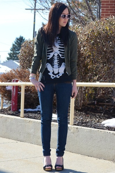 black Ripple Junction shirt - olive green Forever 21 jacket