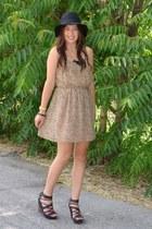 camel Forever21 dress