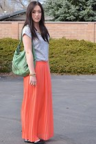 coral maxi Forever21 skirt