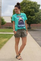 turquoise blue Urban Outfitters shirt