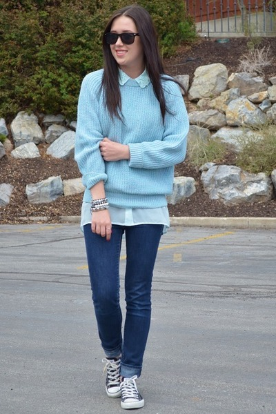 light blue H&M blouse