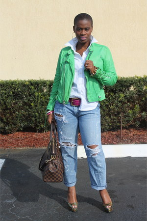 abercrombie and fitch jeans - Ralph Lauren jacket - trevi gm Louis Vuitton bag