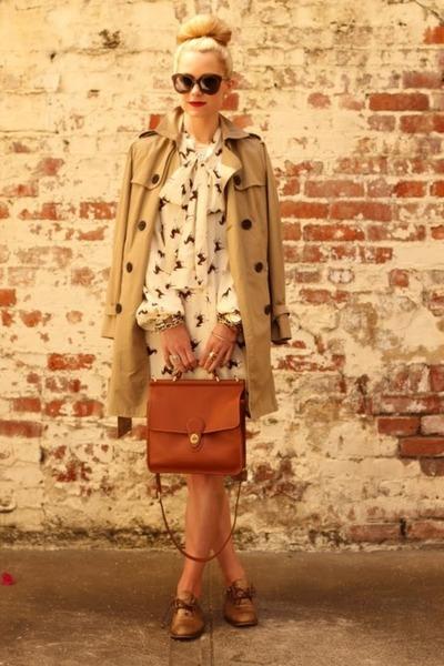 leather Prada loafers - plastic Karen Walker sunglasses