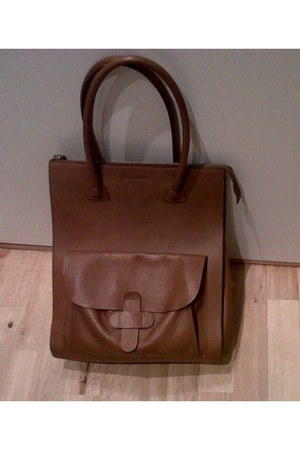 bronze brown leather Decadent bag