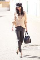 nude Sheinside jumper - black Zara pants