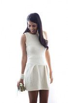 white zalando dress