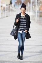 blue pull&bear jeans - navy Love Struck jumper