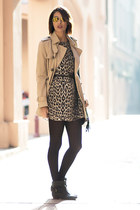 tawny Zara coat - brown Primark dress