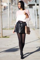 black BLANCO skirt - light pink Pull & Bear sweater