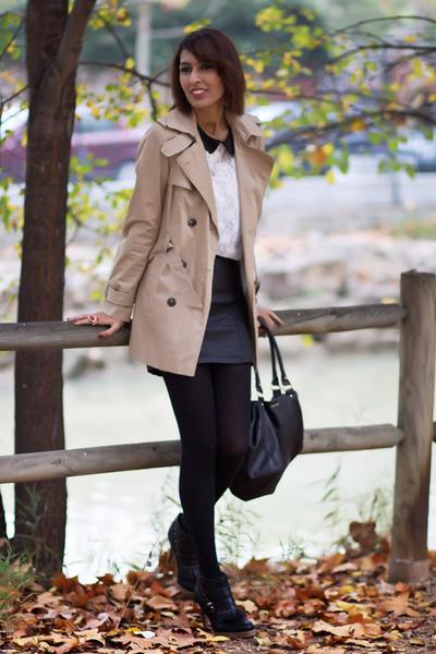 3118bed6a58d dark gray Bershka skirt - black BLANCO blouse - black Bershka heels