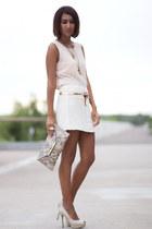 white Zara skirt - off white Zara shoes - light pink Zara blouse