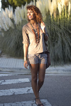 heather gray Bershka shorts