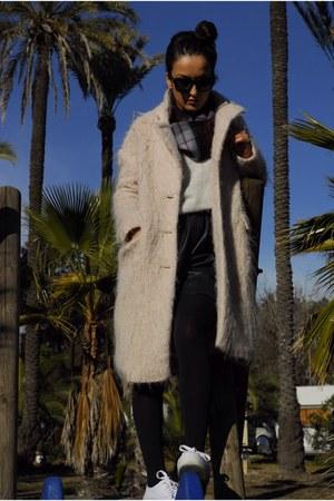 H&M coat - Sister Birkin shorts - Celine sunglasses - Sister Birkin jumper