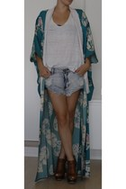 Sister Birkin jacket - denim shorts One Teaspoon shorts - Topshop wedges