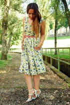 vintage dress - Zara sandals