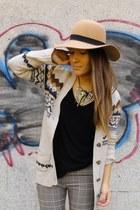Primark hat - Zara cardigan - H&M pants