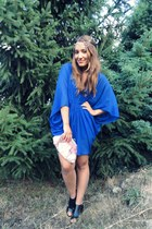 blue Stradivarius dress - Zara flats