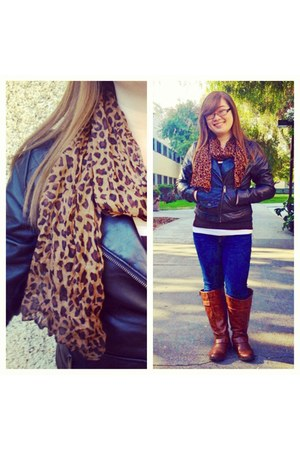 brown cheetah Ayla scarf