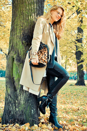 leather Alice by Temperley pants - acne boots - silk acne jacket - acne jacket