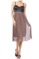 Pleated Sheer Maxi Dress