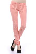 Pastel Pink Colored Skinny Jeans